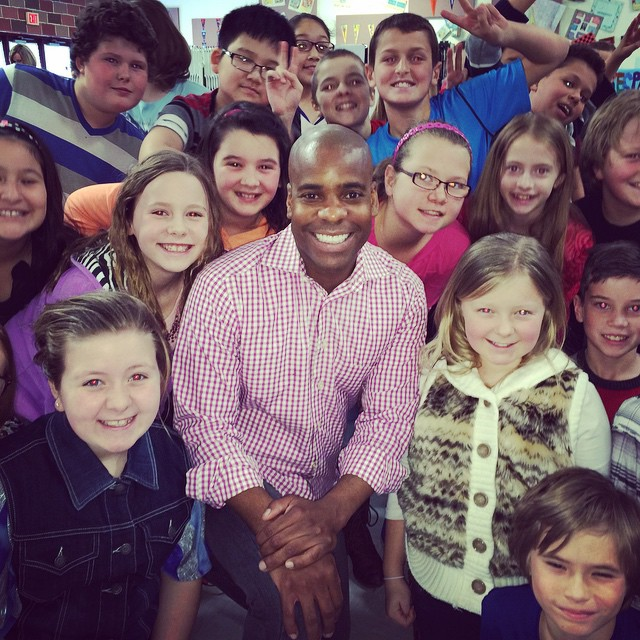 Love visiting Independent Elementary! We talked about what it looks like to #gangupforgood